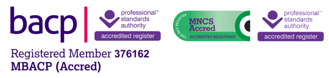 A Registered Accredited Member of the British Association of Counselling and Psychotherapy and Accredited Member of the National Counselling Society.